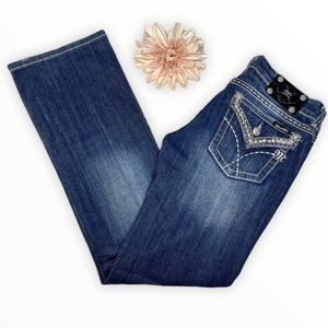 Miss Me Bling Bootcut Jeans Distressed 29 New Boot